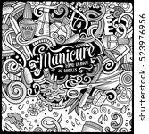 cartoon cute doodles hand drawn ... | Shutterstock .eps vector #523976956