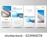 flyers set  modern banners.... | Shutterstock .eps vector #523984078