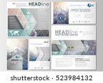 social media posts set.... | Shutterstock .eps vector #523984132