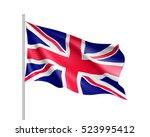 waving flag of united kingdom... | Shutterstock .eps vector #523995412
