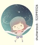 whimsical illustration of a... | Shutterstock .eps vector #523995526