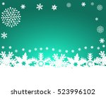 christmas blue background  with ... | Shutterstock .eps vector #523996102