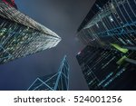 low angle view of skyscrapers... | Shutterstock . vector #524001256