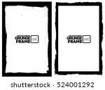 grunge frame   abstract texture.... | Shutterstock .eps vector #524001292