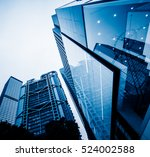 low angle view of skyscrapers... | Shutterstock . vector #524002588