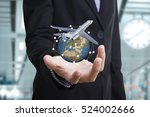 business travel and insurance... | Shutterstock . vector #524002666