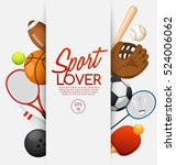 sport lover   sport equipment... | Shutterstock .eps vector #524006062