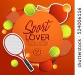 sport lover   sport equipment... | Shutterstock .eps vector #524006116