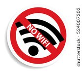 no wifi sign on white... | Shutterstock .eps vector #524007202