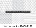 decorative white seamless... | Shutterstock .eps vector #524009152