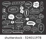 set of cute speech bubble with... | Shutterstock . vector #524011978