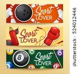 sport lover   sport equipment... | Shutterstock .eps vector #524012446