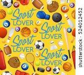 sport lover   sport equipment... | Shutterstock .eps vector #524012452