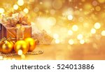christmas and new year gold... | Shutterstock . vector #524013886