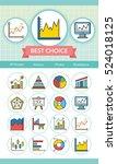 icon set graph vector | Shutterstock .eps vector #524018125