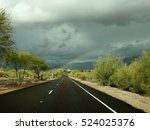 sonoran desert rainbow   Shutterstock . vector #524025376