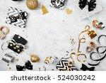 christmas frame. christmas...   Shutterstock . vector #524030242