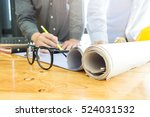 business man and construction... | Shutterstock . vector #524031532