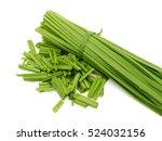 Small photo of Allium tuberosum Vegetables isolated on white background