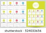 2017 calendar planner design.... | Shutterstock .eps vector #524033656