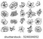 flower set | Shutterstock . vector #524034052