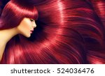beautiful healthy hair. beauty... | Shutterstock . vector #524036476
