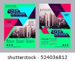 modern brochure layout design... | Shutterstock .eps vector #524036812