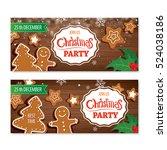 invitation merry christmas... | Shutterstock .eps vector #524038186