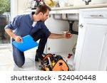 plumber. | Shutterstock . vector #524040448