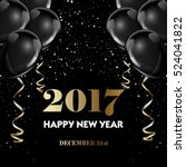 happy new year 2017 fancy gold... | Shutterstock .eps vector #524041822