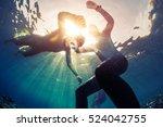 underwater shot of the... | Shutterstock . vector #524042755