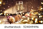 christmas and new year... | Shutterstock . vector #524049496