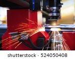 cutting of sheet metal. sparks... | Shutterstock . vector #524050408