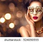 beauty model woman wearing... | Shutterstock . vector #524050555