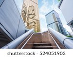 staircase leading towards... | Shutterstock . vector #524051902