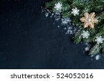 christmas decorations  spruce... | Shutterstock . vector #524052016