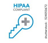hipaa compliance icon graphic... | Shutterstock .eps vector #524053672