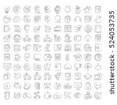 hand drawn internet of things... | Shutterstock .eps vector #524053735