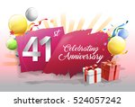 41st anniversary celebration... | Shutterstock .eps vector #524057242
