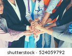 portrait of people with various ... | Shutterstock . vector #524059792