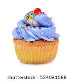 Mini Tasty Cupcake Isolated On...