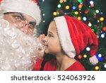 santa and boy near the... | Shutterstock . vector #524063926
