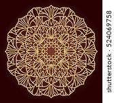 mandala. ethnic decorative... | Shutterstock .eps vector #524069758