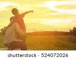family with mountain view or... | Shutterstock . vector #524072026