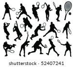 tennis silhouette 2 vector | Shutterstock .eps vector #52407241