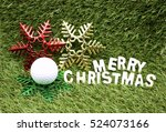 Merry Christmas To Golfer With...