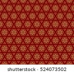 flower pattern. seamless.... | Shutterstock .eps vector #524073502