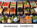 view on rustic containers with... | Shutterstock . vector #524080192