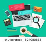 person working on desk on... | Shutterstock .eps vector #524080885