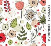 floral vector seamless pattern. ... | Shutterstock .eps vector #524083258